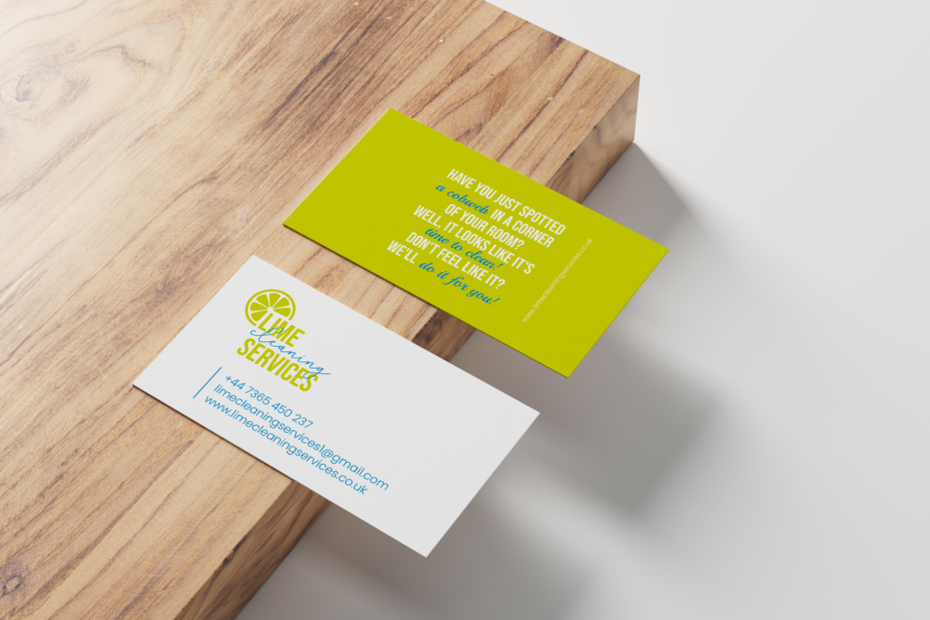 bussines card | LIME CLEANING SERVICES